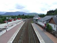 Looking south, showing the Strathspey Railway connection to the main line at Aviemore<br><br>[Graham Morgan&nbsp;06/07/2007]