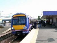 A Fife Circle service calls at Kirkcaldy. Quite busy it seems.<br><br>[Brian Forbes&nbsp;17/07/2007]