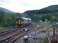 156474 accelerates past Tulloch yard on 20 July 2007 on its way north.<br><br>[John Gray&nbsp;20/07/2007]
