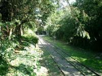 Petite Ceinture Railway, ran round periphery of Paris with branches to main stations. Photo in Parc des Buttes Chaumant showing view N from site of station Bellevilles Villette.<br><br>[Alistair MacKenzie&nbsp;19/07/2007]