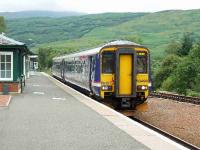 156496 arrives at Crianlarich and awaits the train from Oban. <br><br>[John Gray&nbsp;20/07/2007]