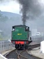 Strathspey Railway No. 17 approaching Aviemore station from the turntable<br><br>[Graham Morgan&nbsp;06/07/2007]