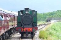 Strathspey Railway No. 17 running round the train at the loop beyond Broomhill<br><br>[Graham Morgan&nbsp;06/07/2007]