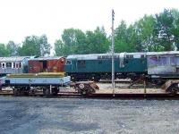 One of the Strathspey Railway Class 26 engines and other rolling stock at Boat Of Garten<br><br>[Graham Morgan&nbsp;06/07/2007]