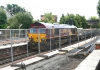 Scene on 24 July with the opportunity being taken to carry out platform repair/renewal work during closure. Inverkeithing station currently ranks 15th in terms of rail passenger usage in Scotland.<br><br>[John Furnevel&nbsp;24/07/2007]