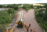 Progress at Inverkeithing Central Junction. View north on 26 July.<br><br>[John Furnevel 26/7/2007]