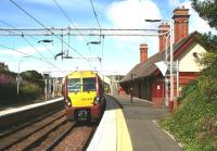 Glasgow bound train leaves Fort Matilda on 29 July. <br><br>[John Furnevel&nbsp;29/07/2007]