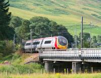 Euston bound Pendolino crossing the Clyde at Lamington on 31 July.<br><br>[John Furnevel&nbsp;31/07/2007]