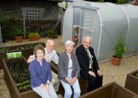 Photocall in the station garden at Wemyss Bay on 4 August. Left to right are Sheena and Bill Stevenson, Nancy Cameron and John Yellowlees.<br> <br><br>[First ScotRail&nbsp;04/08/2011]