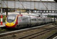 Glasgow - Euston Pendolino calls at Lancaster on 14 July.<br><br>[Bill Roberton&nbsp;14/07/2007]