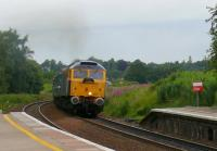 Passenger looking for a golf ball. 47843 powers a special south through Gleneagles.<br><br>[Brian Forbes&nbsp;/07/2007]