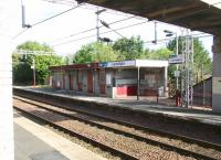Scene at Cartsdyke station on 29 July 2007 - looking northwest across the tracks to <br>  the Glasgow platform. <br><br>[John Furnevel&nbsp;29/07/2007]