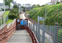 Entrance to Drumfrochar station on 29 July looking east towards Glasgow.<br><br>[John Furnevel&nbsp;29/07/2007]