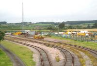 View north over the munitions sidings at Eastriggs towards the Annan-Gretna line on 3 August 2007 showing some of the plant and equipment deployed around the junction in connection with the redoubling of the main line.<br><br>[John Furnevel&nbsp;3/08/2007]