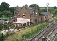 The former Gretna station...and the spot where, one fateful May morning in 1915, signalman James Tinsley boarded the local to ride up to Quintinshill to start his shift.<br><br>[John Furnevel&nbsp;03/08/2007]