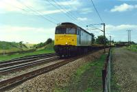 47386 takes a Permanent Way train south through Gretna Junction. The Dumfries route is off to the left.<br><br>[Ewan Crawford&nbsp;//1989]