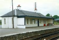 Muir of Ord station building stood on the northbound platform. Seen here in 1989 before the bulldozers moved in.<br><br>[Ewan Crawford&nbsp;//1989]