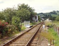 Gatebox on the Kyle line between two level crossings in Dingwall. View looks from the east (No 1) LC to the west (No 2) LC.<br><br>[Ewan Crawford&nbsp;//1989]