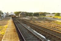 The generous yard and platforms at Thurso in 1989. The long platform is useful for excursion trains. A bay remains in use to the left.<br><br>[Ewan Crawford&nbsp;//1989]