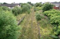 Looking west over the platforms at Caldercruix on 10 August. This will be the next station east from the current terminus at Drumgelloch on the reopened line to Bathgate.<br><br>[John Furnevel&nbsp;10/08/2007]