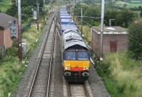 DRS 66404 takes containers south through Gretna Junction on 3 August 2007.<br><br>[John Furnevel&nbsp;03/08/2007]