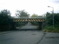 Mind your Heads! Lanarkshire and Dumbartonshire Railway. Low bridge over Castlegreen Street, Dumbarton.<br><br>[Alistair MacKenzie&nbsp;18/08/2007]