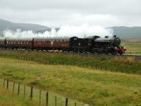 The rain pours down as 61994 accelerates away from Dalwhinnie. <br><br>[John Gray&nbsp;18/08/2007]