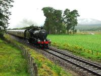 61994 is pictured about two miles north of Kingussie and it is raining.<br><br>[John Gray&nbsp;18/08/2007]