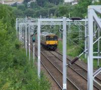 318262 about to pass through Cartsdyke with a fast train bound for Gourock.<br><br>[Graham Morgan&nbsp;04/08/2007]