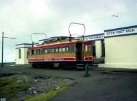 Snaefell Mountain Railway Car no 1, photographed alongside the summit terminus at Snaefell in July 1996. <br><br>[John McIntyre&nbsp;/7/1996]