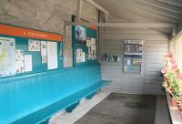 Inside the very welcoming up platform shelter at Chathill on 16 August 2007. The far wall even has a shelf containing a selection of paperbacks for the use of passengers!<br><br>[John Furnevel&nbsp;16/08/2007]
