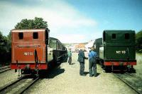 Isle of Man Steam Railway nos 10 and 11 at Port Erin in July 1996.<br><br>[John McIntyre&nbsp;/07/1996]