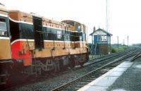 123 about to take a train out of Skerries in 1993. <br><br>[Bill Roberton&nbsp;//1993]