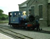 No 12 receives attention between turns at Port Erin in July 1996. <br><br>[John McIntyre&nbsp;/7/1996]