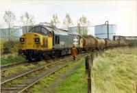 Reversing into the Glenochil Yeast depot at Menstrie.//8390,8391,8392,8393,16317,16318<br><br>[Ewan Crawford&nbsp;//1989]