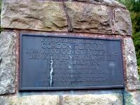 Memorial plaque for Gordon Turnbull on the monument on the hill above the collapsed Penmanshiel Tunnel.<br><br>[Ewan Crawford&nbsp;//2003]