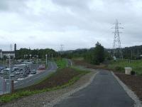 The site of North Johnstone station, now cleared along with the trackbed and embankment and forming part of area of the new Morrisons store on its site<br><br>[Graham Morgan&nbsp;30/08/2007]