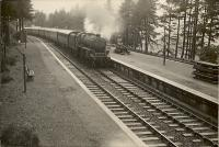 Killin Junction. West end. 5P 4.6.0 45443 entering on Oban - Glasgow train.<br><br>[G H Robin collection by courtesy of the Mitchell Library, Glasgow&nbsp;26/08/1950]