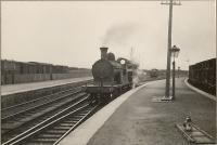 Georgemas Junction - Britains furthest north junction. HR 4.4.0 14399 <i>Ben Alder</i> at Thurso platform.<br><br>[G H Robin collection by courtesy of the Mitchell Library, Glasgow&nbsp;03/07/1950]