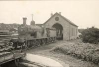 HR 4.4.0 54404 <i>Ben Clebrig</i> at Thurso sheds.<br><br>[G H Robin collection by courtesy of the Mitchell Library, Glasgow&nbsp;03/07/1950]