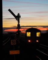 Westbound train heads west from Barnetby station towards Wrawby Junction.<br><br>[Ewan Crawford //2004]