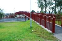 New footbridge at (the former) Alloa West LC.<br><br>[Ewan Crawford&nbsp;01/09/2007]