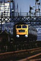 A class 47 brings 1X00, The Royal Train, south out of Aberdeen in 1975.<br><br>[John McIntyre&nbsp;//1975]
