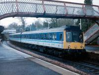 117 308 with an inner circle train at Aberdour in April 1999.<br><br>[David Panton&nbsp;/04/1999]