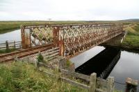 Lattice girder bridge over the River Thurso just to the south west of Halkirk in August 2007. View is south.<br><br>[John Furnevel&nbsp;28/08/2007]