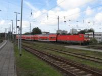 Local train arriving at Rostock in the former East Germany.<br><br>[Michael Gibb&nbsp;06/09/2007]
