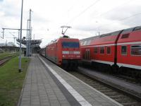 Intercity service from Karlsruhe to Stralsund reverses at Rostock. The journey from end to end takes 10 hours but it is in loco-hauled comfort! <br><br>[Michael Gibb&nbsp;06/09/2007]