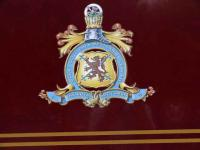 <i>The Royal Scotsman</i> coat of arms. The train is now part of the prestigious <i>Orient Express</i> Group, specialising in luxurious trains, hotels, holidays and cruises worldwide.<br><br>[Brian Forbes&nbsp;/09/2007]