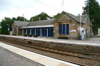 The former station building on the down platform at Tain on 30 August 2007, showing how <I>unused</I> need not necessarily mean <I>neglected</I>. [See image 16648]<br><br>[John Furnevel&nbsp;30/08/2007]