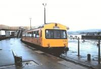 DMU 101363 at Winton Pier, Ardrossan Harbour in August 1985. <br><br>[David Panton&nbsp;//1985]